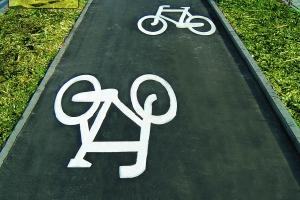 znak symbol P-23 poziomy rower rowerek - termoznak