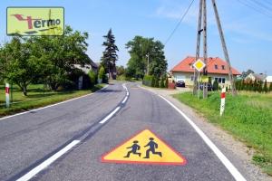 piktogram znak uwaga dzieci A-17 poziomy termoznak