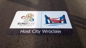 Oznakowanie drog kolorowe naklejka euro 2012 oznakowanie sciezek szlakow rowerowych
