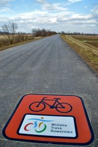 Wislana Trasa Rowerowa Street Print oznakowanie drogi sciezki trasy rowerowej naklejka