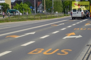 Road sign termosign letters bus